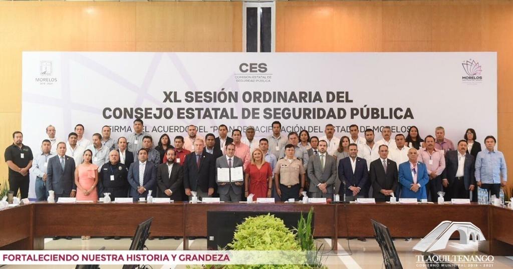 El Presidente Jorge Maldonado asistió a la XL Sesión Ordinaria de Consejo Estatal de Seguridad Pública