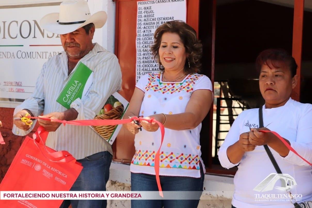 Inauguración tienda DICONSA en la comunidad de Las Carpas