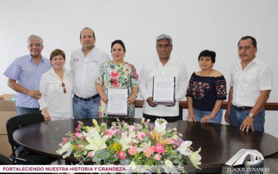 Firma de Convenio de Colaboración entre el H. Ayuntamiento de Tlaquiltenango y el ICATMOR