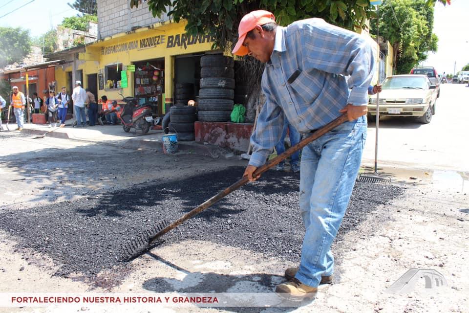Arranque de Programa de Bacheo en Tlaquiltenango