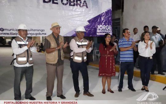 Entrega de Obra en el Barrio de Tlayehualco