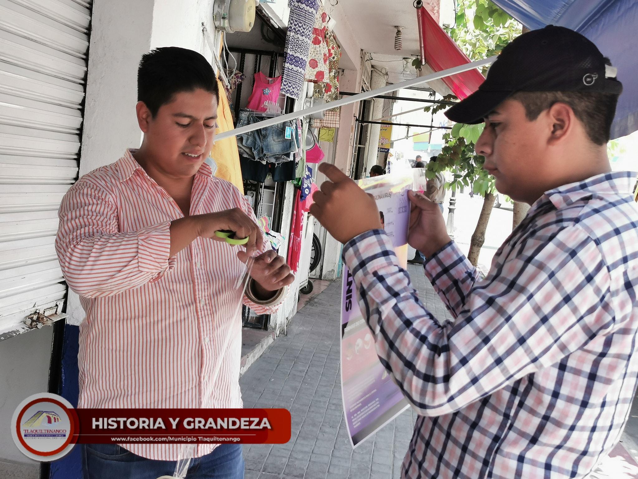 Inicia la Estrategia para la Prevención del Covid-19 en Tlaquiltenango