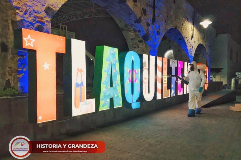 Continúa la Jornada de Desinfección de Espacios Públicos en Tlaquiltenango