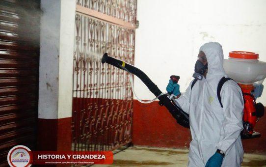 Inicia Jornada de Desinfección de Espacios Públicos en Tlaquiltenango