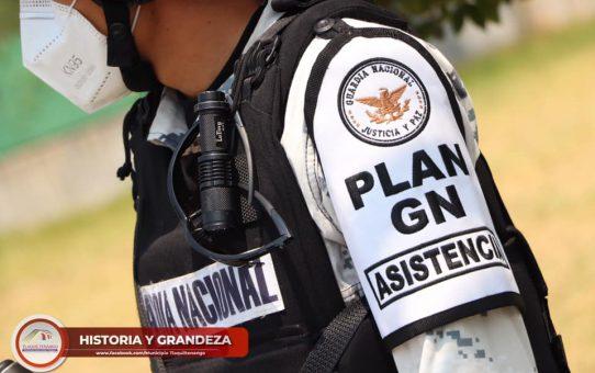 Guardia Nacional Apoya a Tlaquiltenango para el Cierre de Negocios no Escenciales