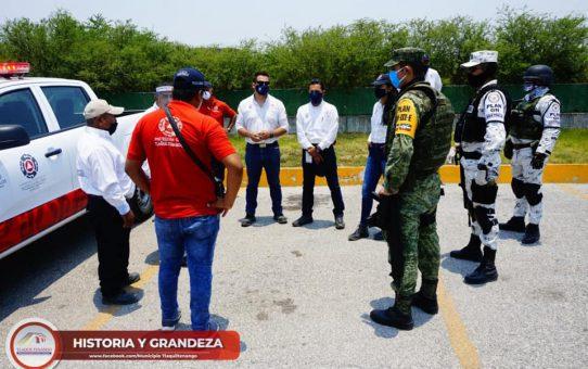 Operativo de Protección Civil enTlaquiltenango