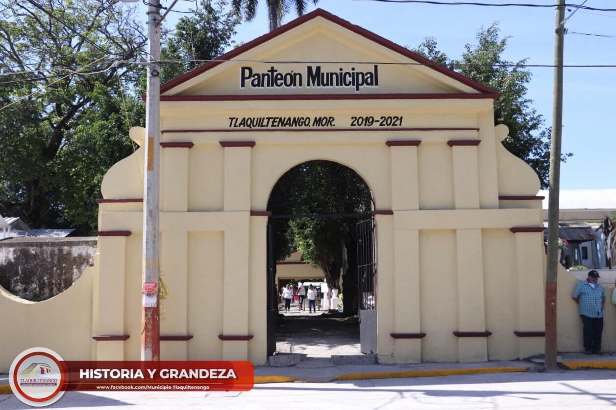 Rehabilitación de la fachada principal del panteón municipal de la colonia Celerino Manzanares