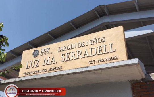 Entrega de techumbre en jardín de niños de la colonia centro de Tlaquiltenango