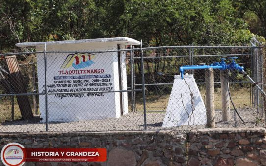 Entrega de obra en la comunidad de Huaxtla