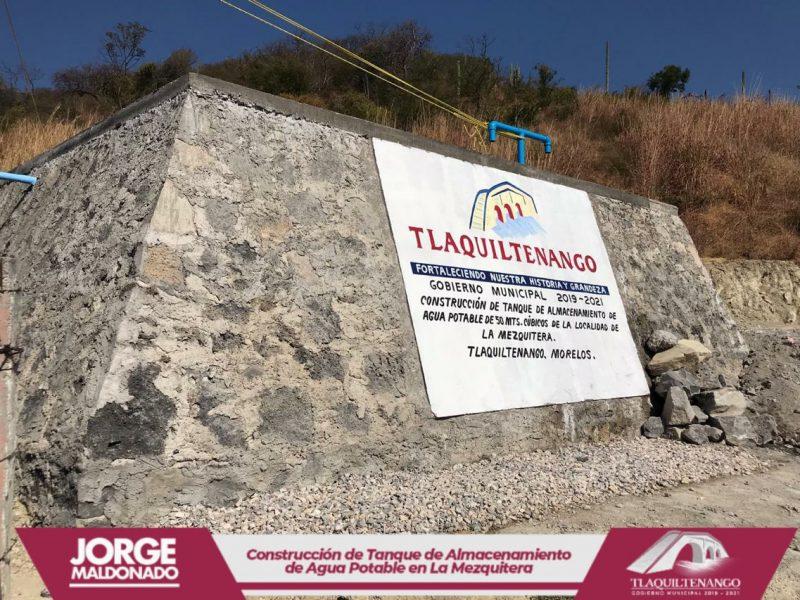 Entrega de tanque de almacenamiento de agua en la Comunidad de la Mezquitera
