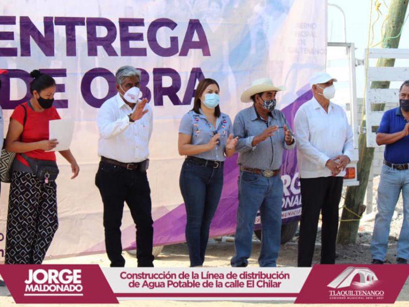 El profe Jorge Maldonado entrega obra en la colonia Celerino Manzanares