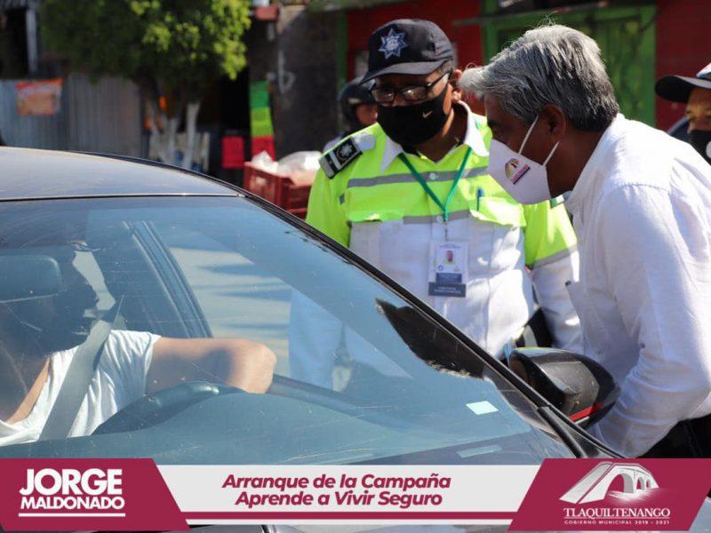 Arranque de campaña #AprendeaVivirSeguro en Tlaquiltenango