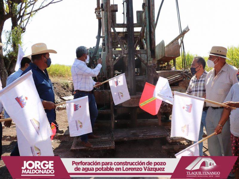 Arranque de obra en la comunidad de Lorenzo Vazquez