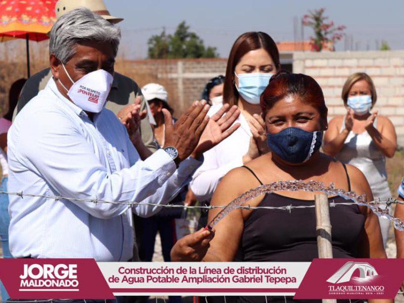 El profe Jorge Maldonado entrega obra en la col. Ampliación Gabriel Tepepa