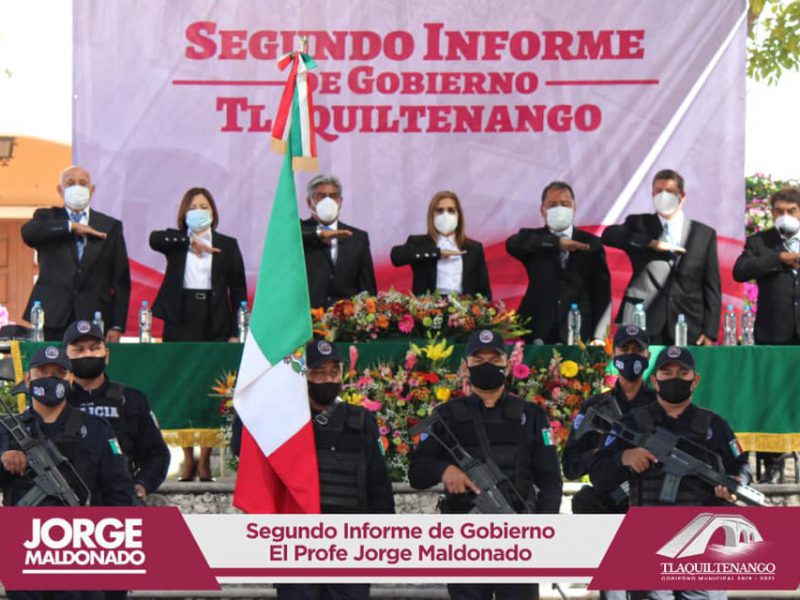 El profe Jorge Maldonado rinde su segundo informe de gobierno
