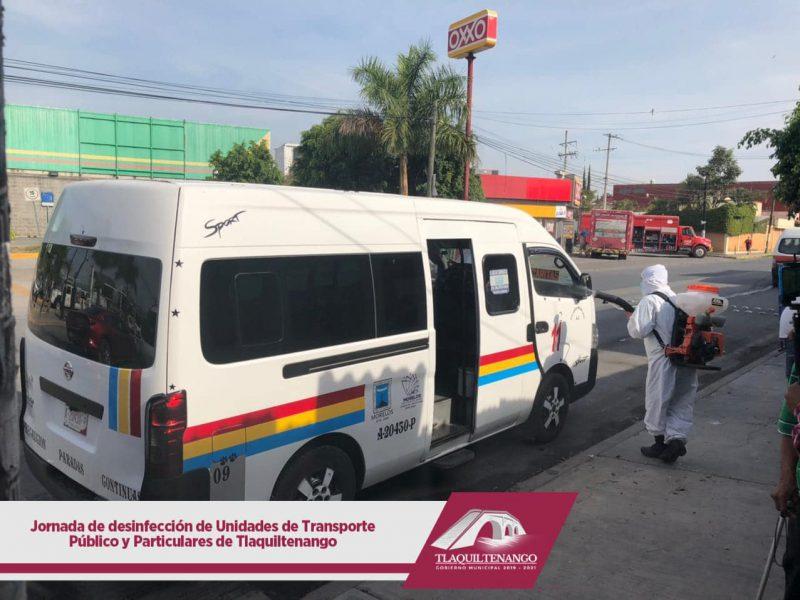 Jornada de Desinfección de Unidades de Transporte Público