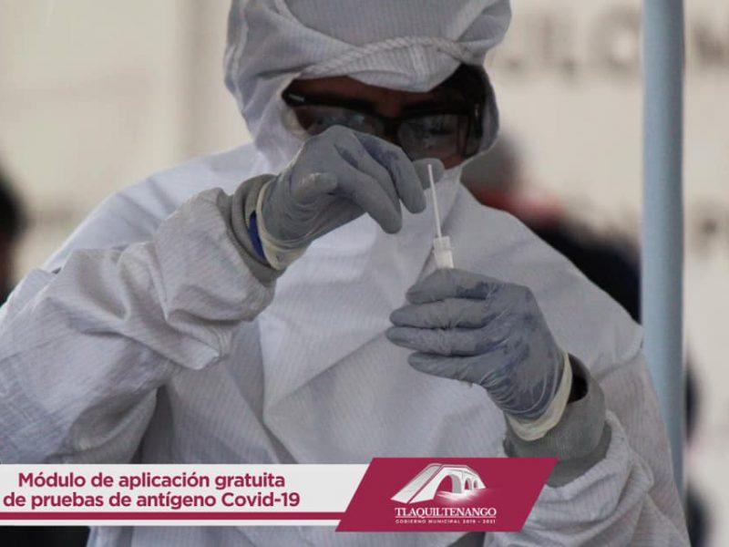 Módulo de Pruebas Antigénicas para Detección de #COVID-19 en Tlaquiltenango