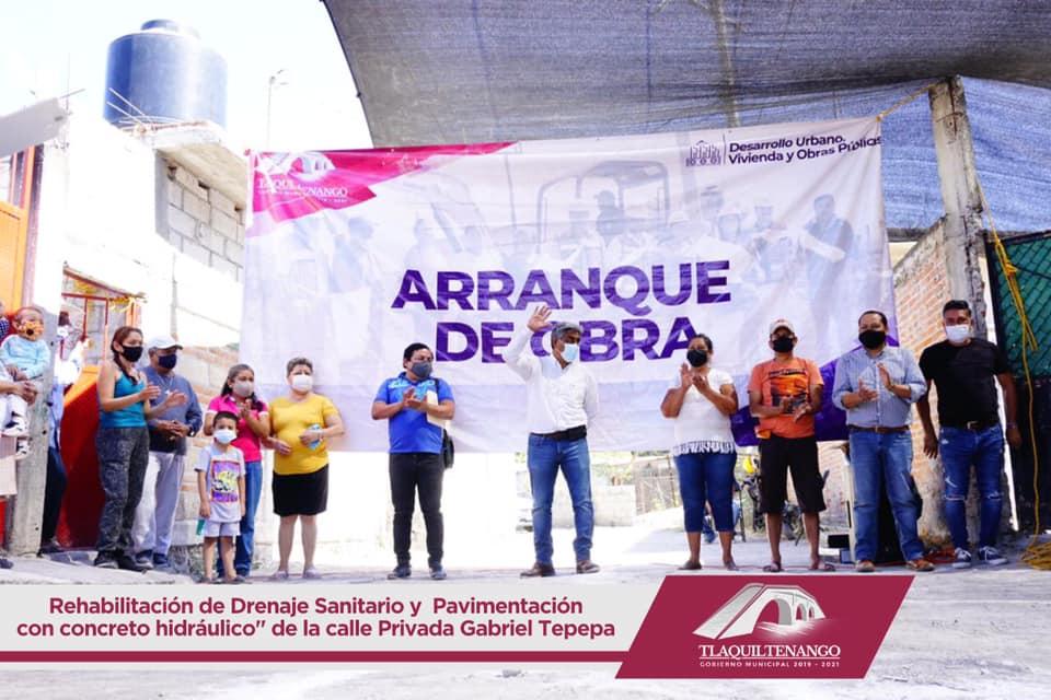 REHABILITACIÓN DE DRENAJE Y PAVIMENTACION DE CALLE PRIVADA GABRIEL TEPEPA DEL BARRIO DE TLAYEHUALCO