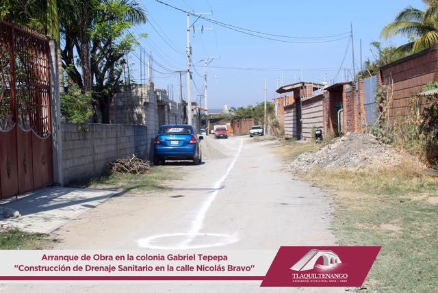 OBRA DE CONSTRUCCIÓN DE DRENAJE SANITARIO EN LA COLONIA GABRIEL TEPEPA