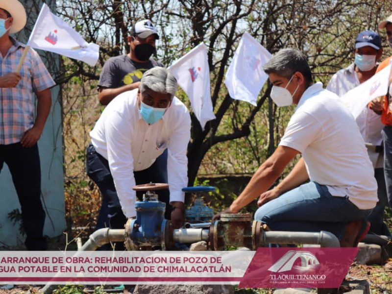 REHABILITACION DE POZO DE AGUA POTABLE EN LA COMUNIDAD DE CHIMALACATLAN