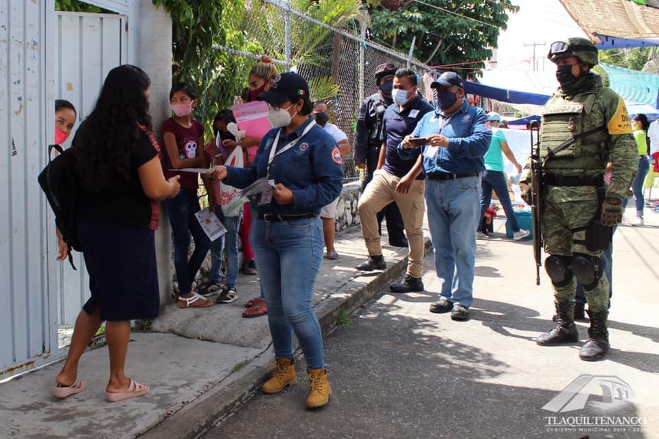Operativo «Convoy, Unidos Por Morelos» Y «Aprende A Vivir Seguro» Ante El Covid-19 En Tlaquiltenango
