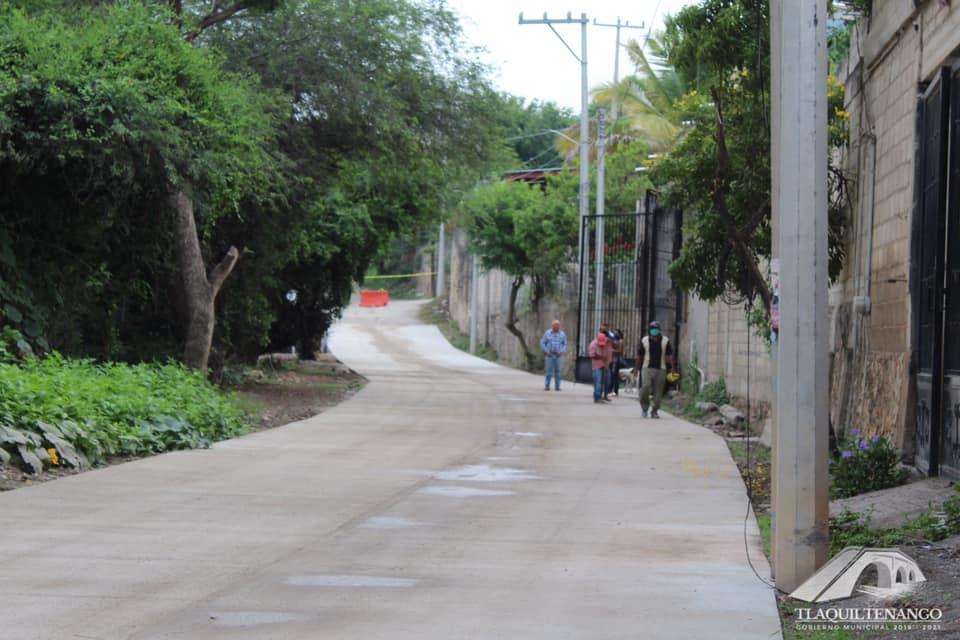 El Profe Entrega la Obra De Pavimentación de la Calle Lauro Ortega (Segunda Etapa) en la Colonia Tres de Mayo de Tlaquiltenango
