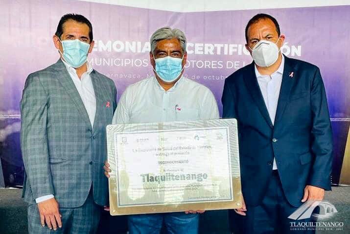 Tlaquiltenango Reconocido como Municipio Promotor de la Salud por Autoridades Estatales